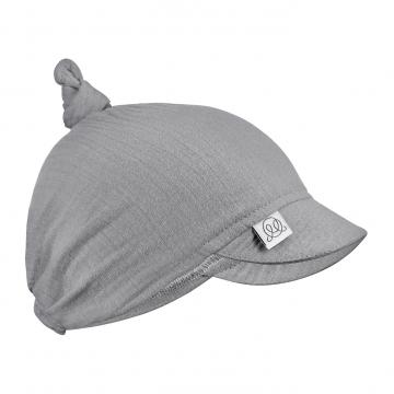 Muslin visor scarf tied - grey