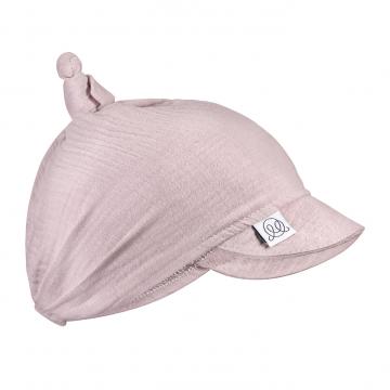 Muslin visor scarf tied - dusty pink