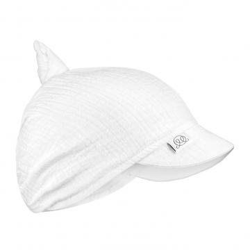 Muslin visor scarf tied - cream