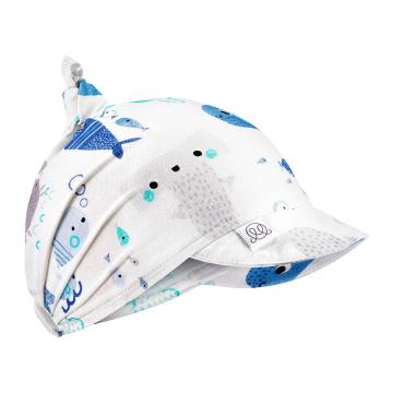 Bamboo visor scarf - Sea friends
