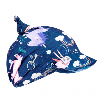 Bamboo visor scarf - Unicorns