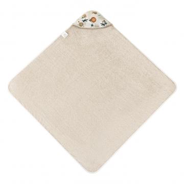 Bamboo baby towel Paradise feathers White