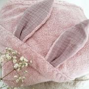 Bamboo baby towel - Paradise feathers - cream
