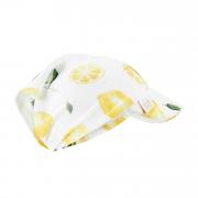 Bamboo visor scarf with elastic - Lemons