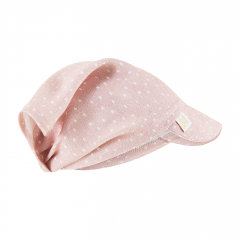 Bamboo visor scarf with elastic - Stones pink