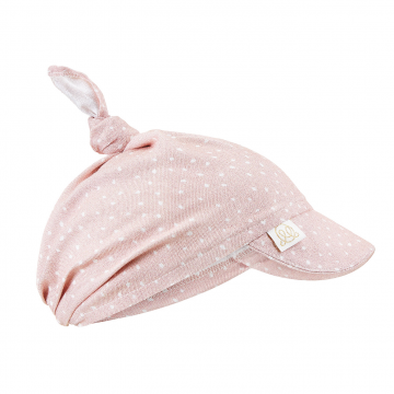 Bamboo visor scarf tied - Stones pink