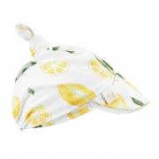 Bamboo visor scarf tied - Lemons