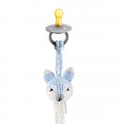 Pacifier clip Fox - light blue