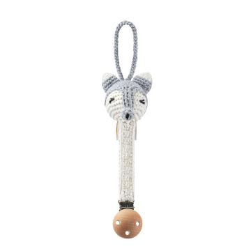 Pacifier clip Fox - grey
