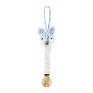 Pacifier clip Mam Fox - light blue