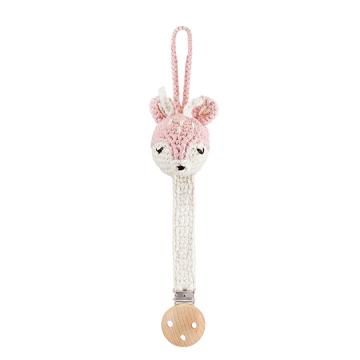 Pacifier clip Deer - dusty pink