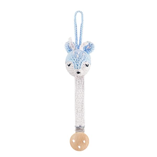 Pacifier clip Deer - light blue