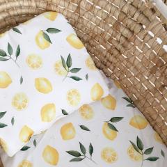 Bamboo baby pillow - Lemons