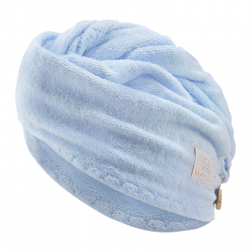 Bamboo hair turban - cream