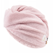Bamboo hair turban - blush pink