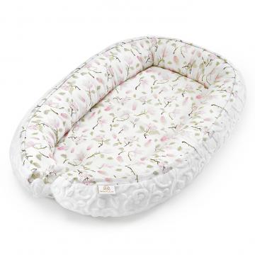 Bamboo baby nest Premium Luxe - Magnolia - white