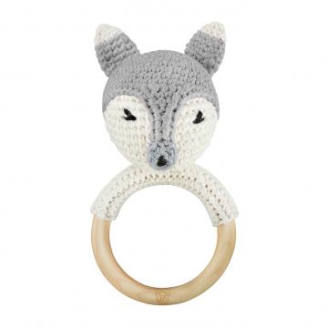 Rattle-teether Fox - grey