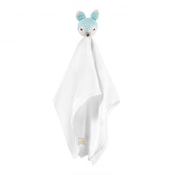 Snuggle toy Fox -  mint