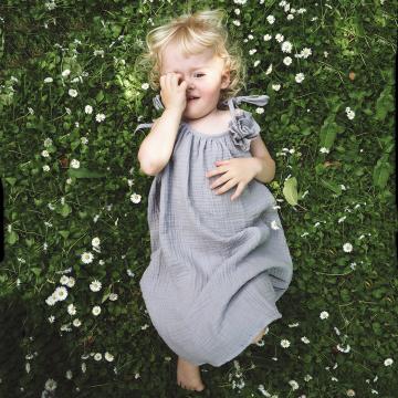 Sukieneczka muślinowa - szary