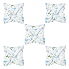 Bamboo squares mini 25x25 5-pack - Heavenly birds