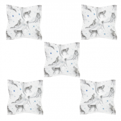 Bamboo squares mini 25x25 5-pack - Star wolves