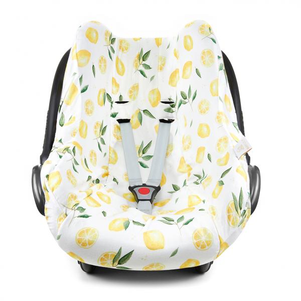 Bamboo car seat cover - Lemons