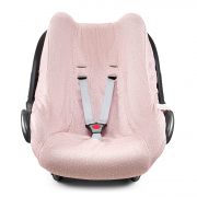Bamboo car seat cover - Stones pink