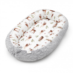 Bamboo baby nest Luxe - Fawns - grey