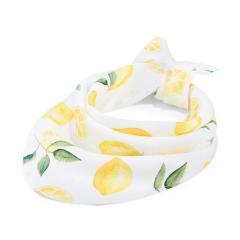 Triangle bamboo scarf - Lemons