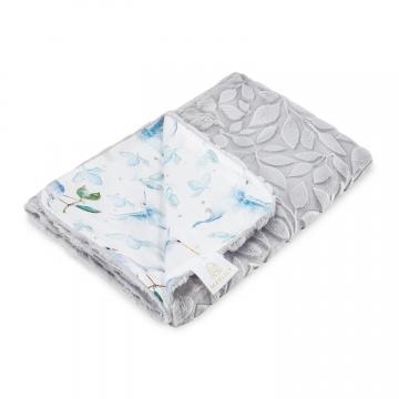 Luxe light blanket Heavenly birds Grey