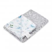Light bamboo blanket Luxe - Heavenly birds - grey