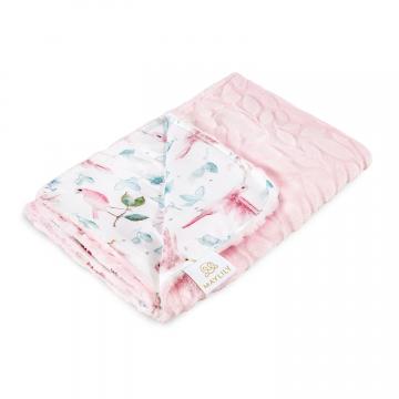 Luxe light blanket Paradise birds Blush