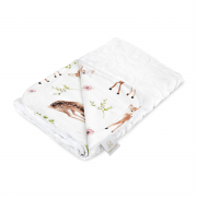 Light bamboo blanket Luxe - Fawns - white