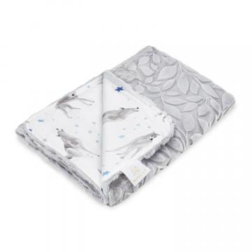 Luxe light blanket Star wolves Grey