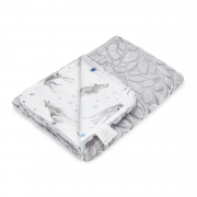 Light bamboo blanket Luxe - Star wolves - grey
