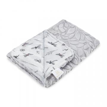 Luxe light blanket Dragonflies Grey