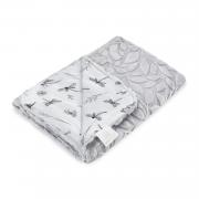 Light bamboo blanket Luxe - Dragonflies - grey