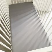 Cotton jersey bed sheet 140x200 Grey