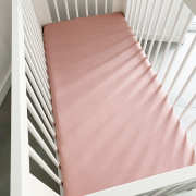 Cotton jersey bed sheets 2-pack Blush pink - Grey