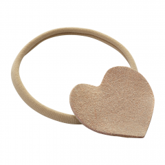 Headband Heart - beige-caramel