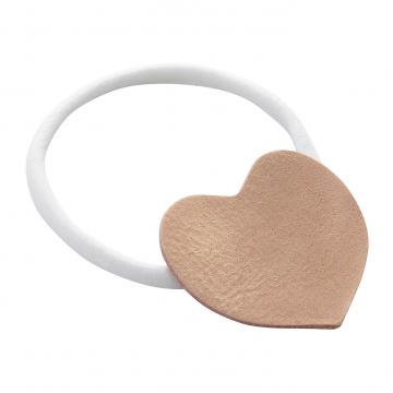 Headband Heart - white-caramel