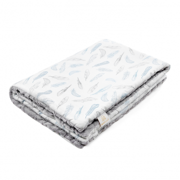 Warm bamboo blanket Luxe Heavenly feathers Grey