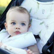 Bamboo stroller pad Wolves