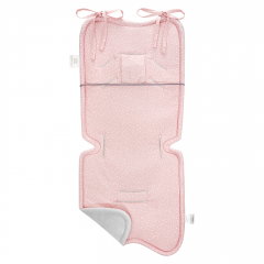 Bamboo stroller pad - Stones pink
