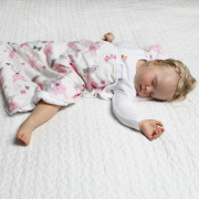 Light bamboo blanket Fawns Silver