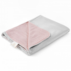 Light bamboo blanket - Stones pink - silver