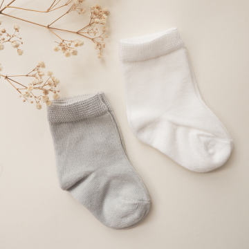 Bamboo socks 2-pack - grey-dusty pink