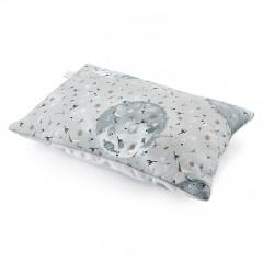 Puszysta poduszka bambusowa - by Maffashion - srebrny