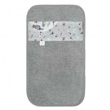 Bamboo hand towel Grey owls Grey