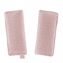 Bamboo belt covers - Stones pink